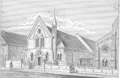 1891 Drawing of New Hall