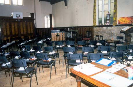 Church hall used for Worship during refurbishment 1998